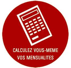 Calculez vos mensualités immobilière